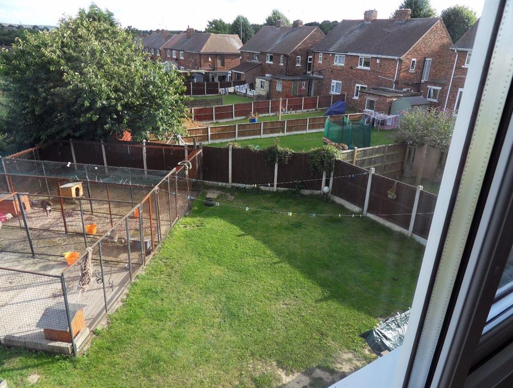 View to the right of the back garden plot from the upstairs bedroom window